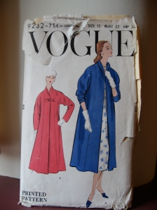 1957 Swing Coat from vintage Vogue pattern