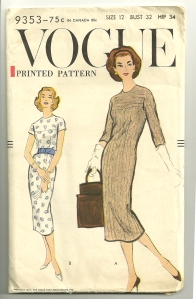 The length of this dress as shown on the envelope is very 1950's.  I'll be making it in knee-length.