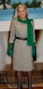 With green gloves for a '50s' look!