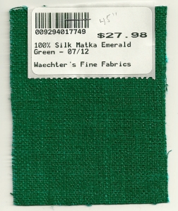 This is the swatch I ordered from Waechter's Fine Fabrics