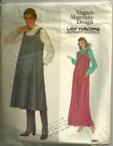 Yes - it is for a maternity dress...  from 31 years ago.