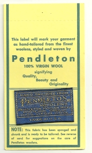 A pristine label, still attached to its card.