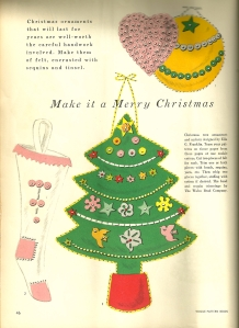 There were sevben apages of projects like this in the December/January 1953-54 issue of Vogue Pattern Book magazine.