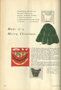 The two tops shown on this page would be very stylish today.  And the grouping of accessories just happens to from a pattern which i own.