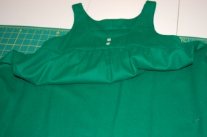 The dress with the side seams separated.