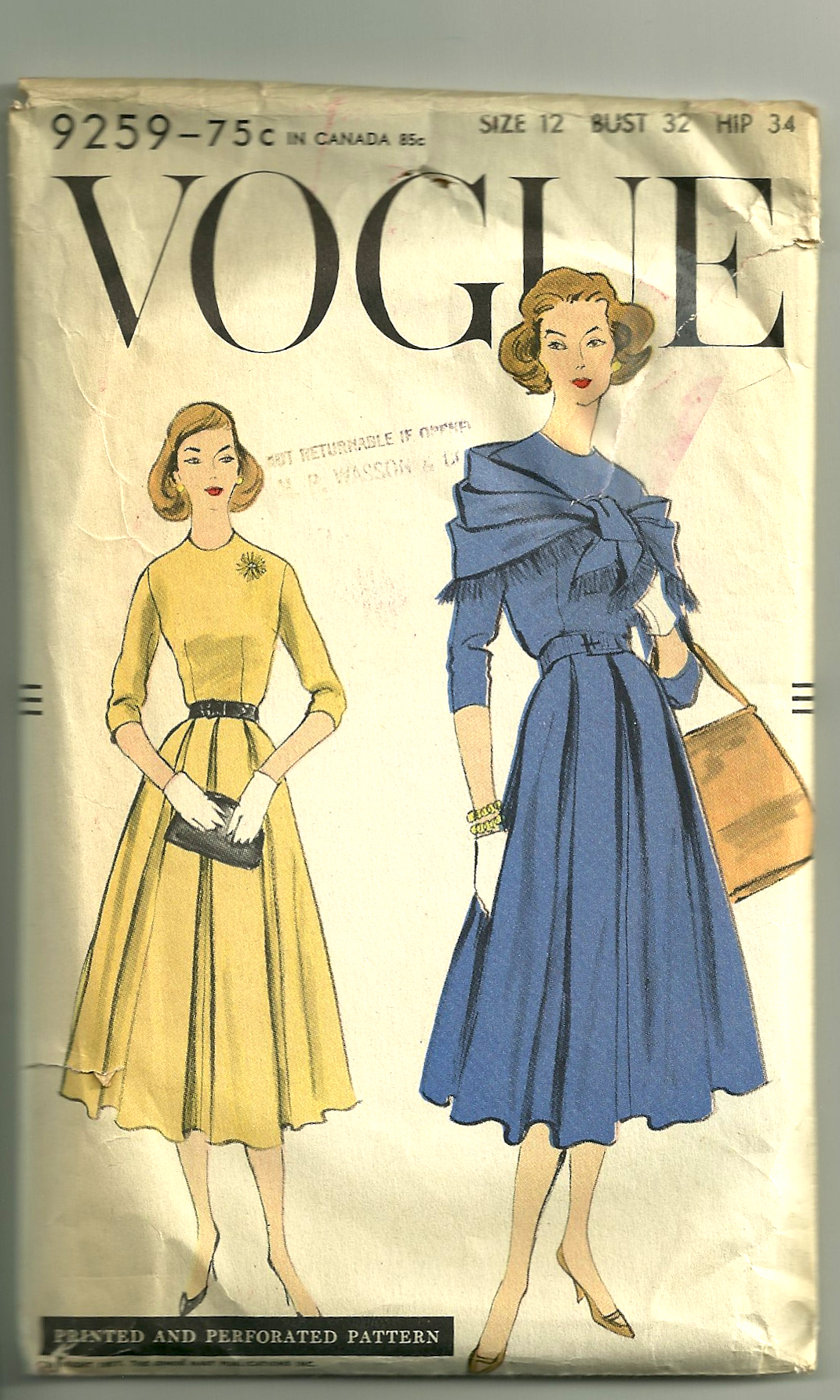 Unprinted Patterns From The 1950s Fiftydresses