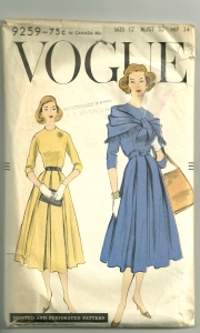 Dated 1958, this pattern shows the influence of Christian Dior.