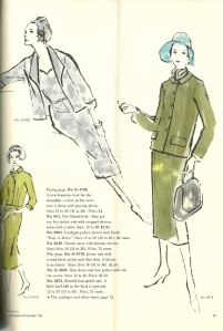 "Here is the opposing page to the previous illustration - more on the ""Chanel look."""