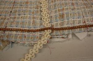 "Lucia chose this ""copper"" colored chain . . ."