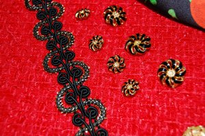 My trim and buttons - click on the photo to see them close-up.