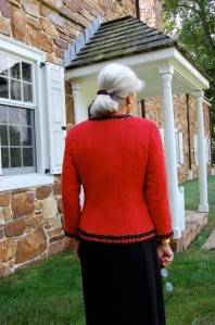 """I added a gradual 1/4"""" to the back length, which gives it a more graceful line, I think.  This was one of Susan's many excellent suggestions."""