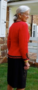 Red Chanel jacket