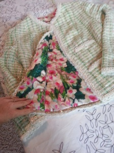 Look at the beautiful lining that Holly chose.