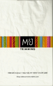 Shopping for Fabric - M & J bag