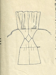 "A thumbnail diagram on the back of the pattern envelope.  ""Dress opens flat for ironing."""