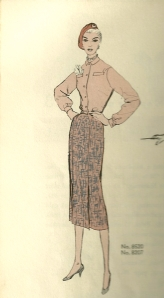 Looking at blouses 1955 - dress shirt style