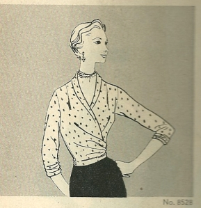 Looking at blouses 1955 - wrap style