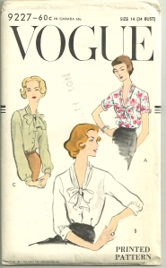 Looking at blouses 1957