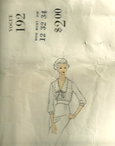 This blouse pattern is part of a suit.