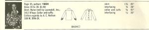 Looking at blouses 1972 - plaid 3 sketch