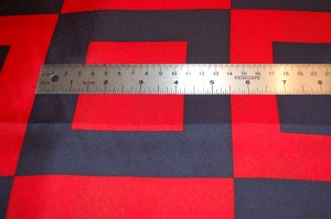The ruler will help you get a feel for the size of the squares.  Click on the photo for a close-up view.