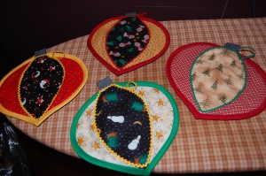 Color wheel potholders