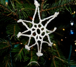 Of course, I think of my sister every day, not just in December.  Somehow these little cotton snowflakes remind me of how far we have both come . . .  Merry Christmas, Barbara!