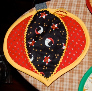 color wheel potholder