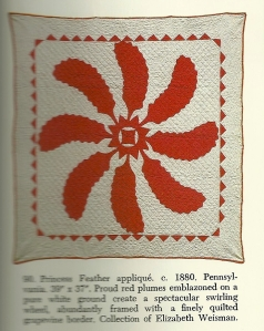 Here is one example of a vintage Princess Reather baby quilt, Reproduced from Crib Quyilts anbd Other Small Wonders, by Thos. K. Woodard and Blanche Greenstein, E. P. Dutton, New York, New York, 1981.