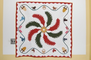This is the quilt I made for Aida two Christmases ago.