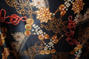 This fabric from Mendel Goldberg Fabrics in NYC is a stretch silk charmeuse, with a wonderful drape to it.