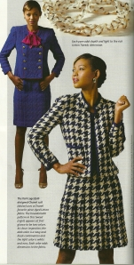 I love this suit in houndstooth wool.  This is pictured in Threads Magazine, January 2014, page 44.