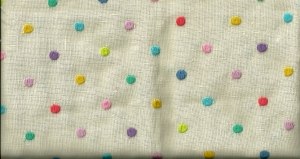 This is a vintage linen, newly acquired by me.  Although there is nothing printedon the selvedge, I believe it is a Moygashel linen from the 1950s.