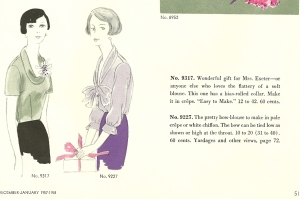 The blouse was featured in the December/January 1957-58 issue.