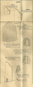 The instruction sheet from the pattern . . . .