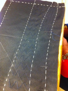 The inside story - collar pad-stitching