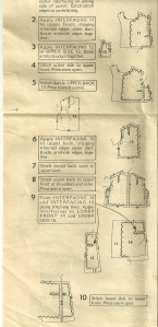 The Inside Story - interfacing detail from instruction sheet