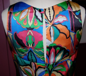 """The """"open"""" yoke on the back of the dress."""