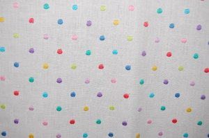 Linen dotted fabric