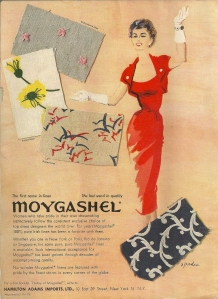 This ad was on the inside front cover of Vogue Pattern Book magazine from December/January 1953-54.