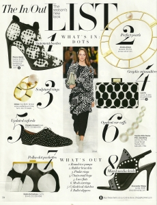Linen dotted dress - HB magazine