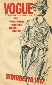 "On the cover of this small ""flyer"", which was available for pick-up wherever Vogue patterns were sold, is the reference to fashion from Florence - as in Pucci's Florence!"