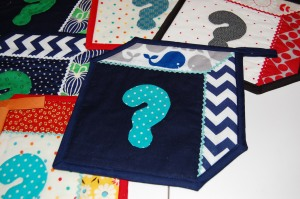 And the finished potholders...