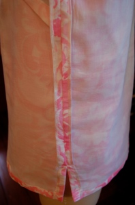 This shows both the seams finished with Snug Hug and the white voile lining.