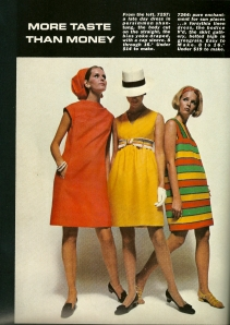 """... pure enchantment for sun places ... a forsythia linen dress ...""  and the source information in the back of this Vogue Pattern Book Magazine from February/March, 1968 credits Moygashel as the brand of linen."