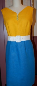 . . . and here is the dress with the buttons.  What do you think?  With or without?