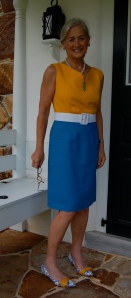 The belt is also a Pat Mahoney product, made from a silk dupioni.
