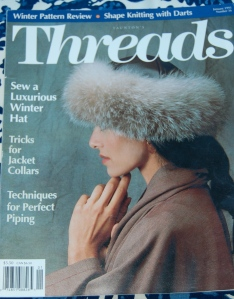 I have many odd issues of Threads Magazine, but earlier in the year I bought the Threads Magazine Archive 1985-2013, available on their website. I can't recommend it highly enough - decades of sewing advice and expertise is readily available at the click of your computer mouse!