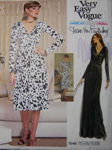 I was delighted to find this DvF pattern in my size, at a reasonable cost!  This one should see some fabric next Spring or Summer.