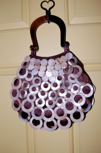 And here is something fun - a dressy handbag to wear with this dress ( a recent find from one of my travels).
